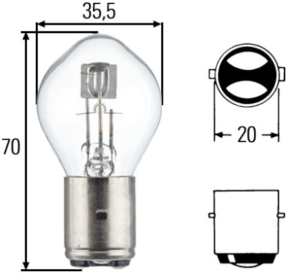 Ampoule, projecteur principal HELLA 8GD 002 084-131 (X1)