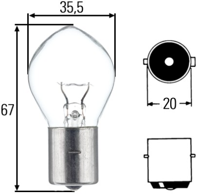 Ampoules HELLA 8GA 002 083-251 (X1)