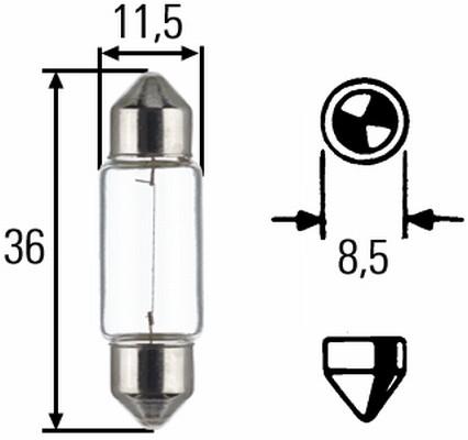 Ampoule, feu de stationnement HELLA 8GM 002 092-123 (Jeu de 2)