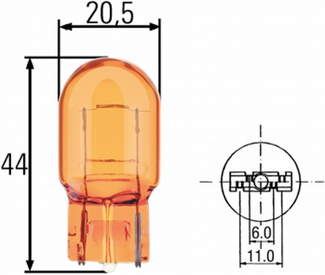 Ampoule, feu clignotant HELLA 8GP 009 021-002 (X1)