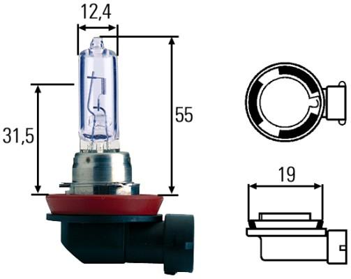 Ampoule, projecteur principal HELLA 8GH 008 357-181 (X1)