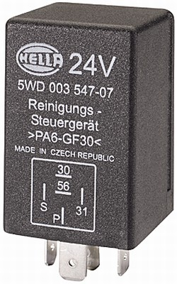 Relais, nettoyage des phares HELLA 5WD 003 547-071 (X1)