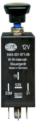 Régulateur, intervalle d'essuyage HELLA 5WA 001 871-071 (X1)