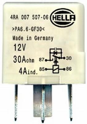 Relais de climatisation HELLA 4RA 007 507-061 (X1)