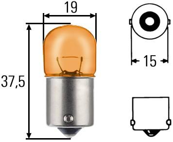 Ampoule, feu clignotant HELLA 8GA 002 071-051 (X1)