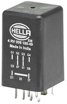 Relais de prechauffage HELLA 4RV 008 188-491 (X1)