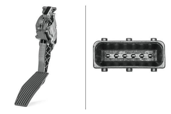 Capteur, position d'accélérateur HELLA 6PV 009 765-741 (X1)