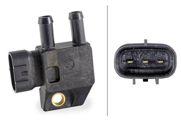 Capteur, pression des gaz échappement HELLA 6PP 009 409-301 (X1)