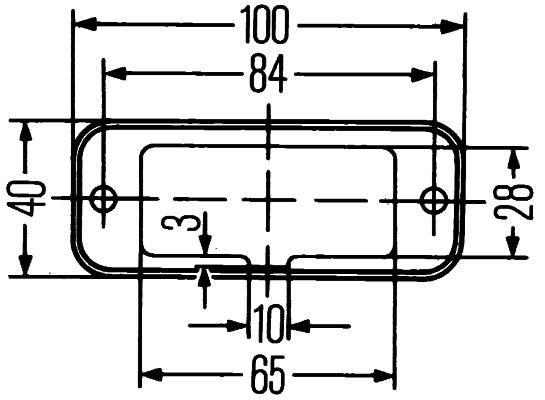 Projecteur de travail optique HELLA 1GA 996 461-341 (X1)