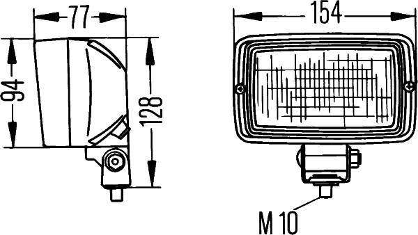 Projecteur de travail optique HELLA 1GA 006 876-001 (X1)