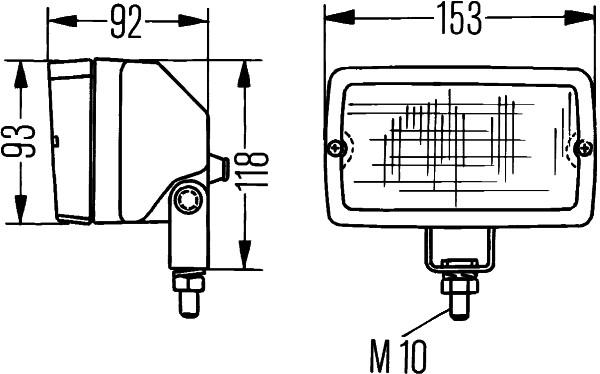 Projecteur de travail optique HELLA 1GA 005 060-041 (X1)