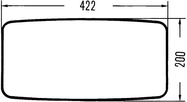 Retroviseur exterieur complet HELLA 8SB 501 081-031 (X1)