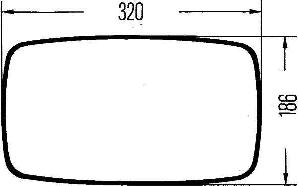 Retroviseur exterieur complet HELLA 8SB 560 991-041 (X1)