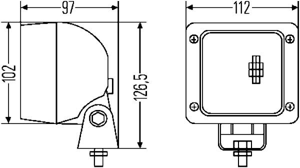 Projecteur de travail optique HELLA 1GA 007 506-081 (X1)