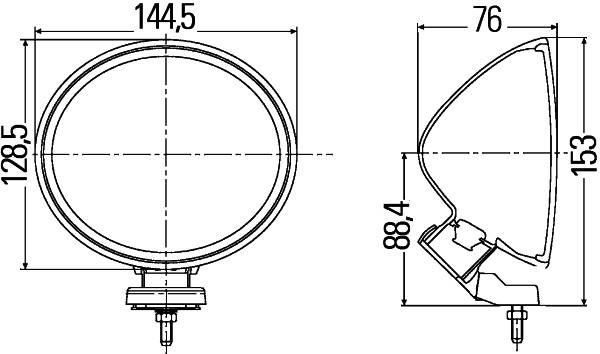 Optique / phare / feu HELLA 1F4 007 893-081 (X1)