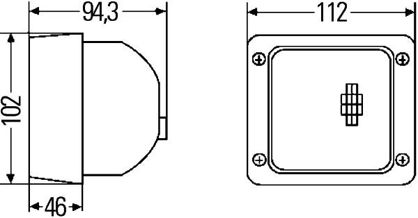 Projecteur de travail optique HELLA 1GA 007 506-111 (X1)