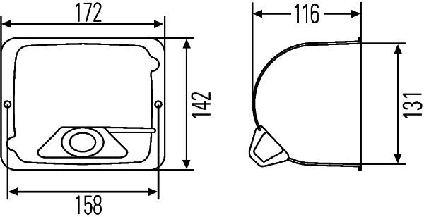 Optique / phare / feu HELLA 9BG 127 426-001 (X1)