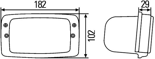 Projecteur de travail optique HELLA 1GB 996 080-011 (X1)