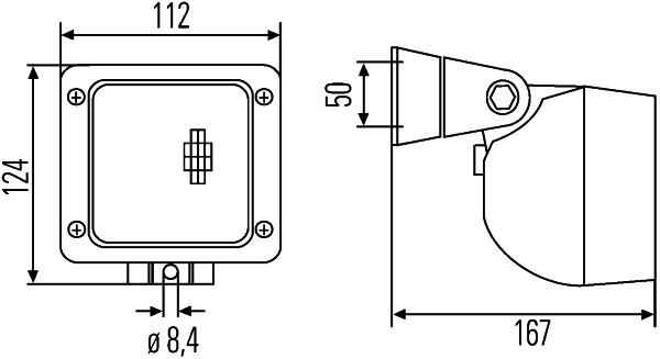 Projecteur de travail optique HELLA 1GA 996 083-011 (X1)