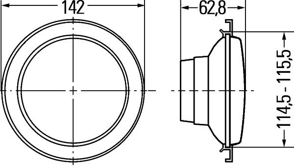 Projecteur de travail optique HELLA 1G0 996 073-001 (X1)
