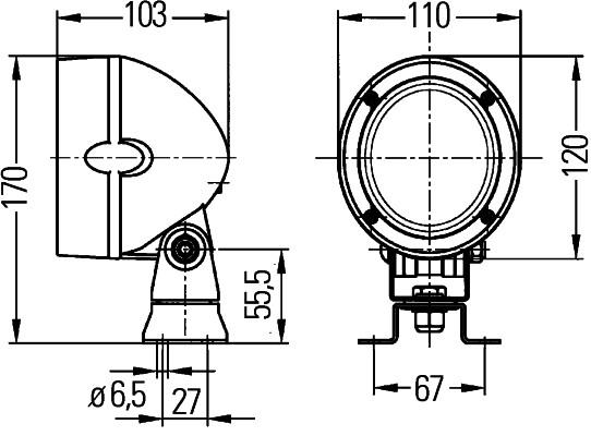 Projecteur de travail optique HELLA 1GM 996 134-061 (X1)
