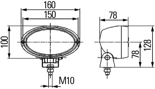Projecteur de travail optique HELLA 1GA 996 161-281 (X1)