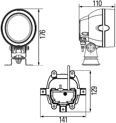 Projecteur de travail optique HELLA 1GM 996 135-371 (X1)