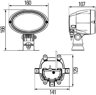 Projecteur de travail optique HELLA 1GA 996 461-591 (X1)