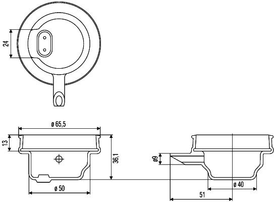 Projecteur longue portée HELLA 9GH 145 943-001 (X1)
