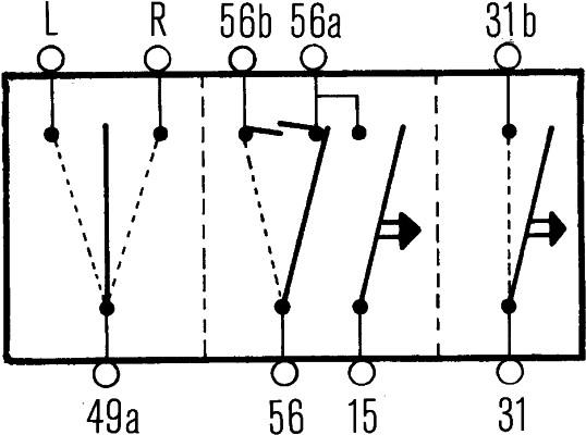 Commutateur de colonne de direction HELLA 6TA 003 394-011 (X1)