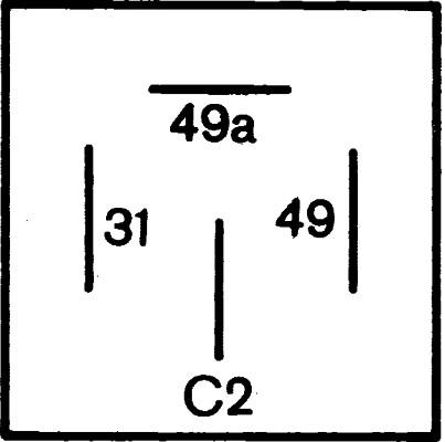 Centrale clignotante HELLA 4DM 003 390-011 (X1)