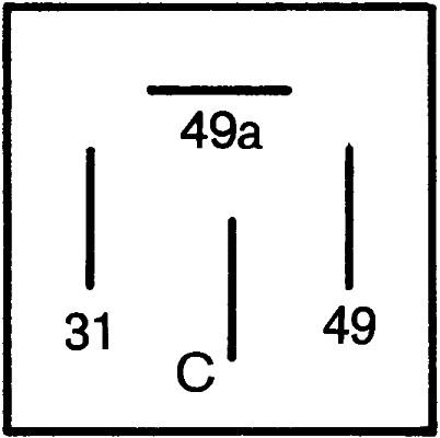 Centrale clignotante HELLA 4DB 001 887-041 (X1)