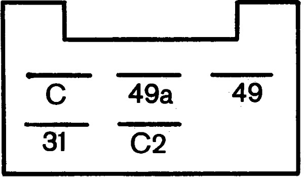 Centrale clignotante HELLA 4DM 003 474-001 (X1)