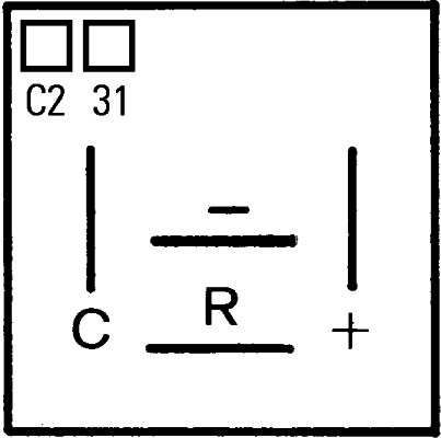 Centrale clignotante HELLA 4DM 005 698-031 (X1)