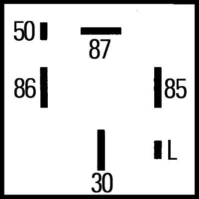 Relais de prechauffage HELLA 4RV 008 188-161 (X1)