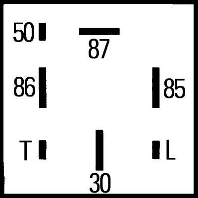 Relais de prechauffage HELLA 4RV 008 188-171 (X1)