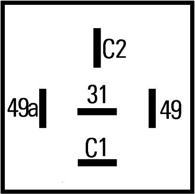 Centrale clignotante HELLA 4DM 003 460-021 (X1)