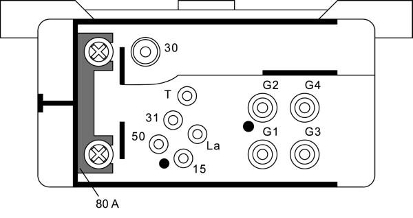 Relais de prechauffage HELLA 4RV 008 188-041 (X1)