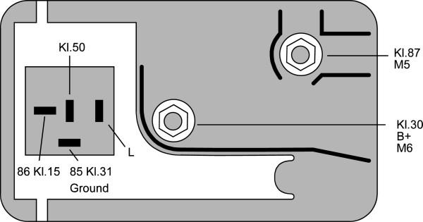 Relais de prechauffage HELLA 4RV 008 188-101 (X1)