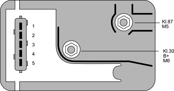 Relais de prechauffage HELLA 4RV 008 188-291 (X1)