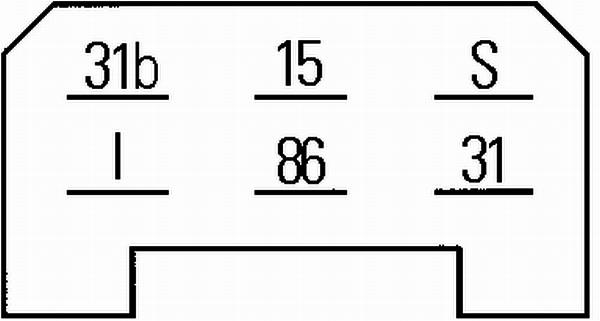 Relais, intervalle d'essuyage HELLA 5WG 002 450-291 (X1)