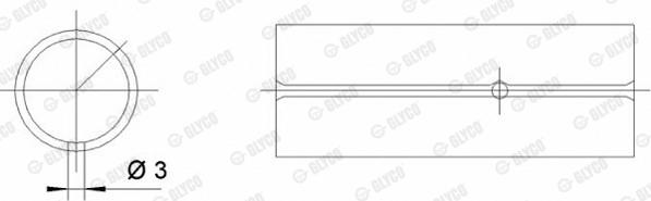 Coussinet de bielle GLYCO 55-3698 SEMI (X1)