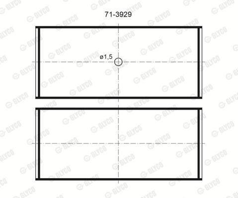 Coussinet de bielle GLYCO 71-3929/4 STD (X1)