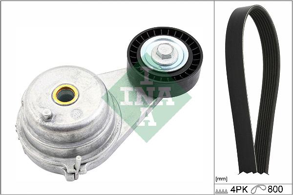 Kit de courroie d'accessoire INA 529 0147 10 (X1)