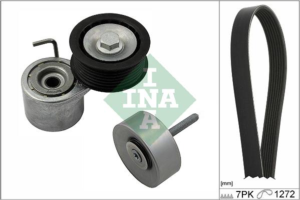 Kit de courroie d'accessoire INA 529 0245 10 (X1)