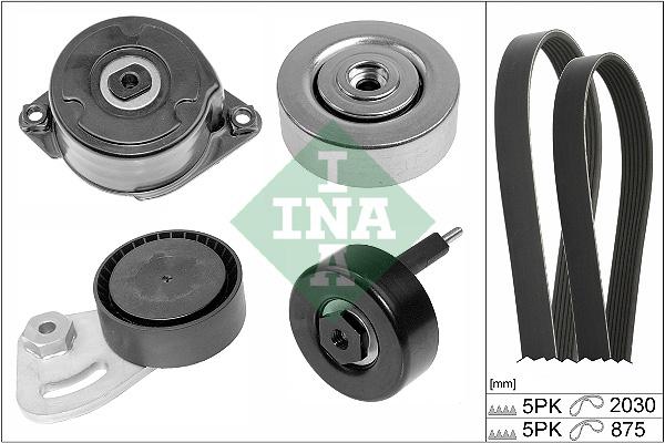 Kit de courroie d'accessoire INA 529 0253 10 (X1)