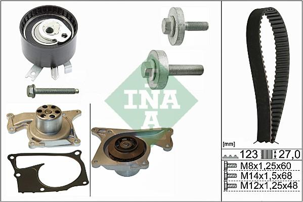 Kit distribution + pompe a eau INA 530 0197 32 (X1)