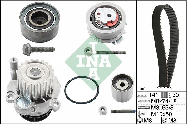 Kit distribution + pompe a eau INA 530 0405 30 (X1)