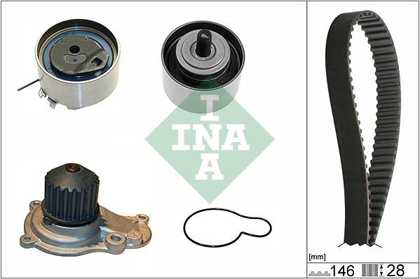Kit distribution + pompe a eau INA 530 0641 30 (X1)