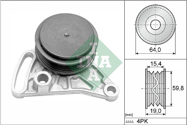 Galet tendeur accessoires INA 531 0309 10 (X1)
